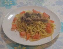 サバとトマトのスパゲッティ